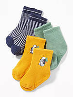 Набор детских махровых носочков 3 пары Old Navy для мальчика