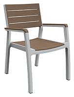 Стул пластиковый Harmony armchair, бело-бежевый, фото 1