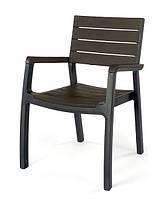 Стул пластиковый Harmony armchair, серо-коричневый, фото 1