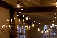 Ретро гирлянда из лампочек от 1м. под заказ