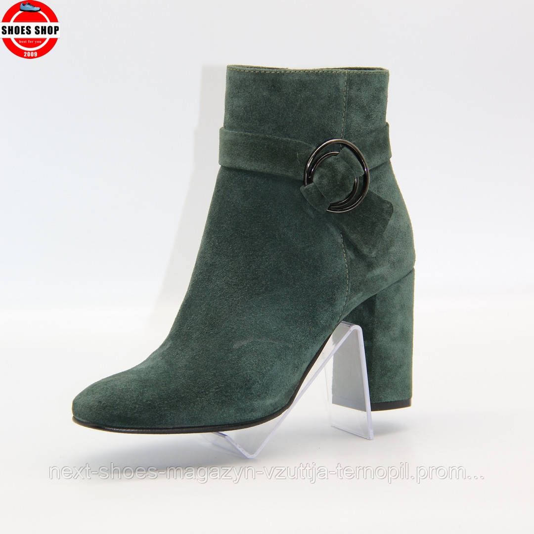 Жіночі ботильони Nessi (Польща) зеленого кольору. Дуже красиві та комфортні. Стиль: Пріянка Чопра