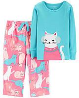 Детская пижама с флисовыми штанишками Картерс для девочки