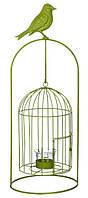 Изделие декоративное в виде клетки для птиц, комплект из 4-х шт. зеленый, фото 1