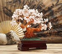 """9290090 Дерево """"Счастья"""" с камнями Розовый кварц"""