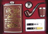 Подарочный набор - фляга + курительные аксессуары