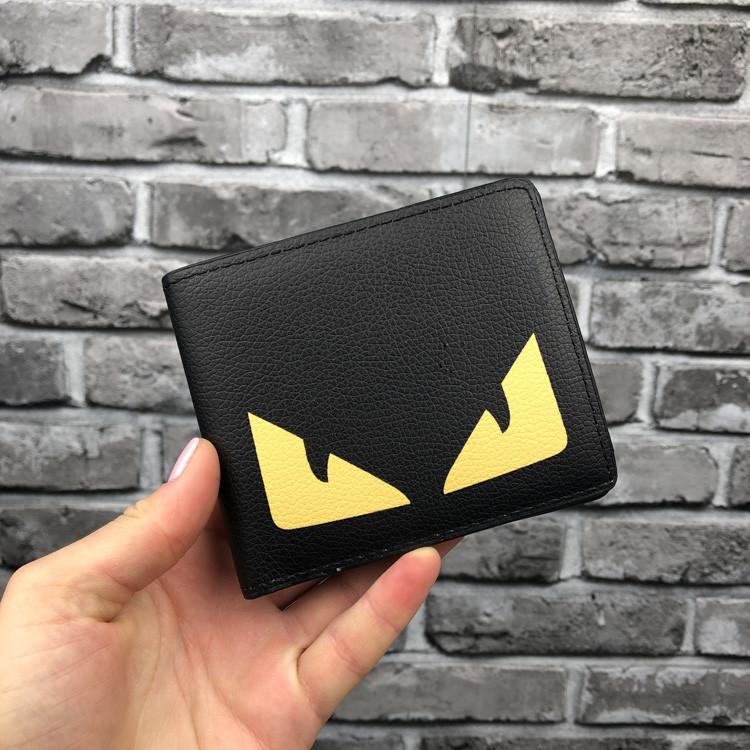 Молодежный кошелек Fendi черный мужской Люкс Качество бумажник Модный Новинка 2019 года Фенди копия