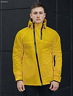 Куртка мужская демисезонная Staff HH yellow с ассиметричными молниями