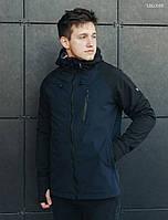 Куртка мужская демисезонная Staff soft shell Solar navy and black