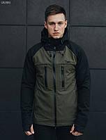 Куртка мужская демисезонная Staff softshell black and haki
