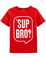 Детская красная трикотажная футболочка ОшКош для мальчика