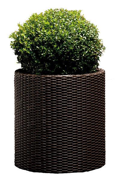 Горшок для цветов 39 л. Cylinder Planter Large, коричневый, фото 1