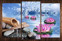 "Модульная картина на холсте ""Бамбук на камнях"""