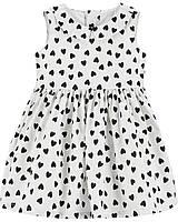 Дитяча сукня з сердечками Картерс для дівчинки