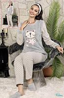 Махровая Пижама с тапками и повязкой 4в1, фото 1