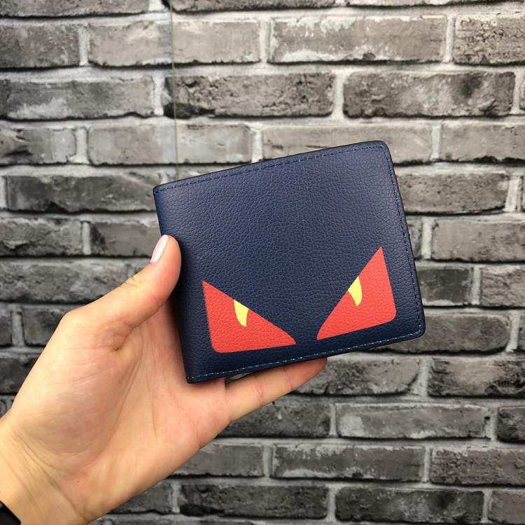 Хайповый кошелек Fendi синий мужской Люкс Качество бумажник Модный Молодежный Фенди копия