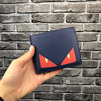 Хайповый кошелек Fendi синий мужской Люкс Качество бумажник Модный Молодежный Фенди копия, фото 1