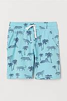 Літні шорти трикотажні з зоо-принтом для хлопчика