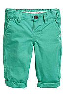 Детские мятные брюки чинос Н&М для мальчика