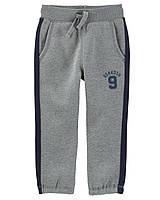 Серые  спортивные штаны на флисе Ошкош для мальчика
