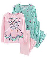 Набор детских пижам из 4-х вещей Картерс  для девочки