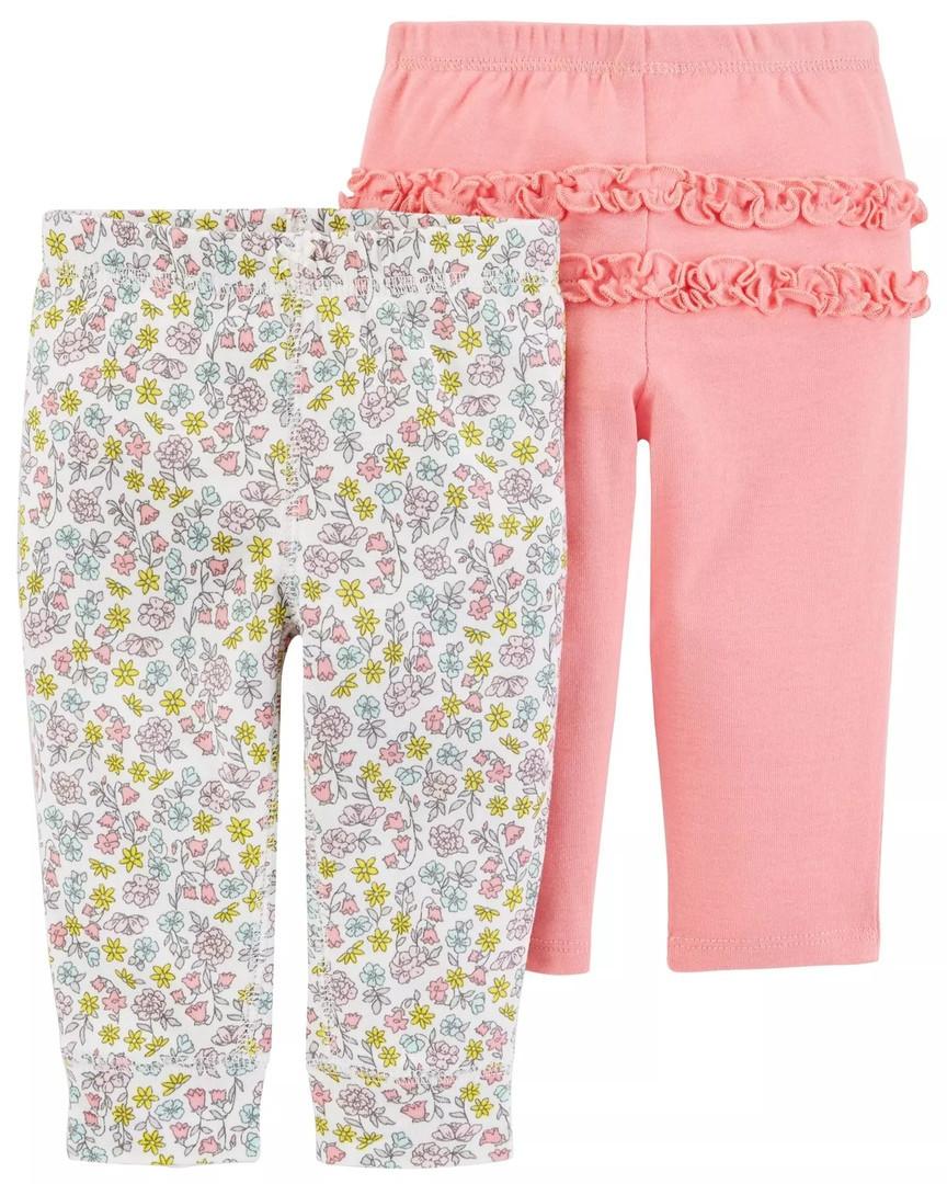 Симпатичные штанишки с цветочками и рюшами Картерс для девочки (с цветочками)