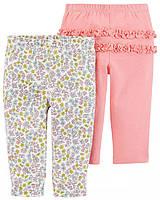 Симпатичные штанишки с цветочками и рюшами Картерс для девочки (с цветочками), фото 1