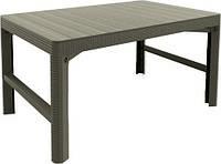 Стол пластиковый, Lyon rattan table, беж, фото 1