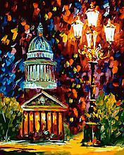 Картина по Номерам 40x50 см. Ночной фонарь Rainbow Art