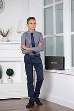 Демисезонные детские джинсы для мальчика ASTON MARTIN Италия AJJI6161PA, синие,