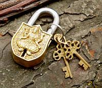 9070053 Замок навесной бронзовый Лакшми