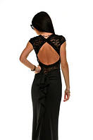 Платье Вечернее черное с хвостом