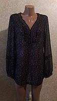Симпатичная шифоновая блуза в мелкий цветочек