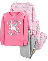 Симпатичные трикотажные пижамки Единороги Картерс для девочки (поштучно)
