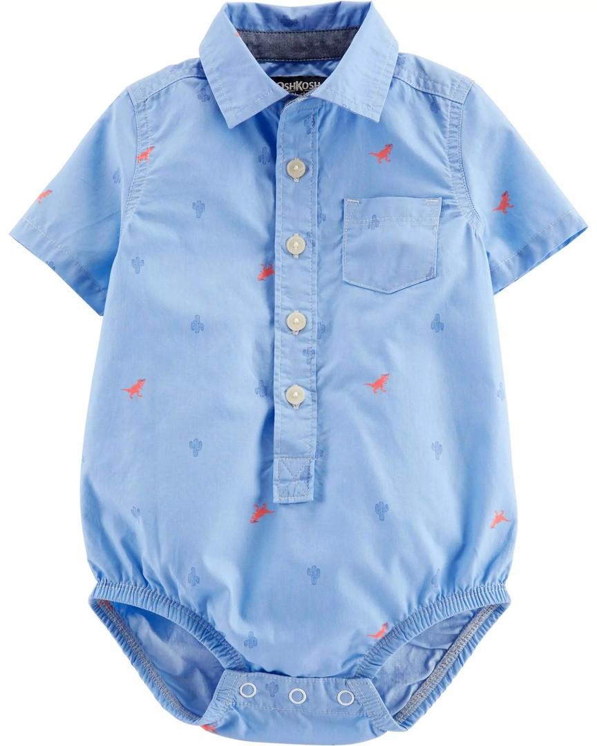 Детская боди-рубашка Динозавры ОшКош для мальчика