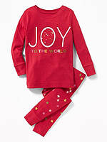 Красная новогодняя трикотажная пижама Old Navy