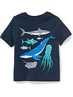 Детская летняя футболка с принтом Олд Неви для мальчика