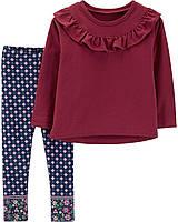 Детский костюм- лонгслив и лосины Картерс для девочки