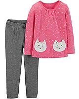 Детский костюм- лонгслив и штанишки Картерс для девочки