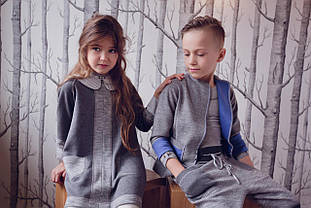 Детский пиджак для девочки Верхняя одежда для девочек CHIC Польша 16 / 17S0303 Серый