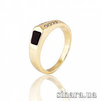 Золотой мужской перстень с эмалью