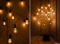 Гирлянды  из лампочек для улицы и дома от 1 м