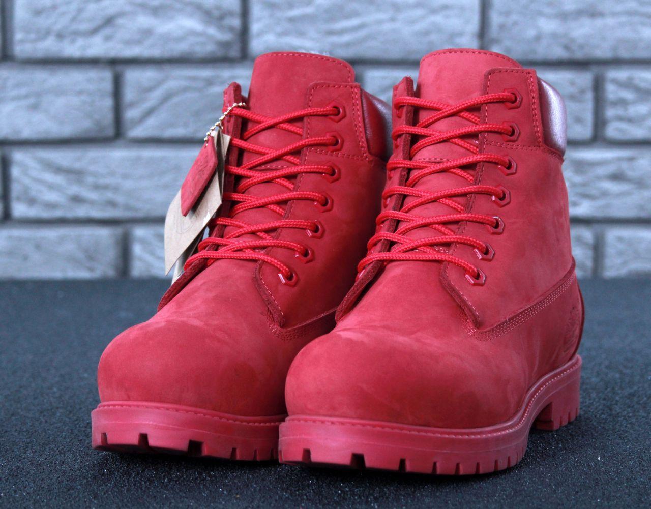 Женские красные Ботинки Timberland Original