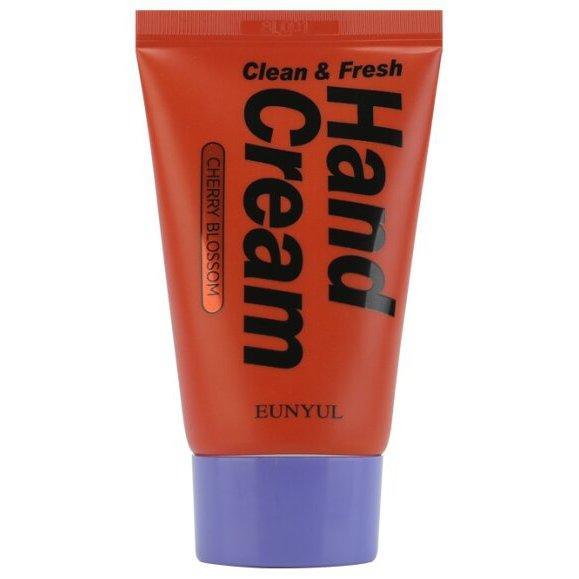Освежающий крем для рук с экстрактом вишни Eunyul Clean & Fresh Cherry Blossom Cream 50 г (8809435405600)
