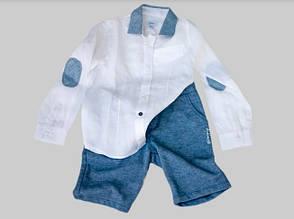 Детская нарядная рубашка для мальчика BABY A Италия A0828SH белый