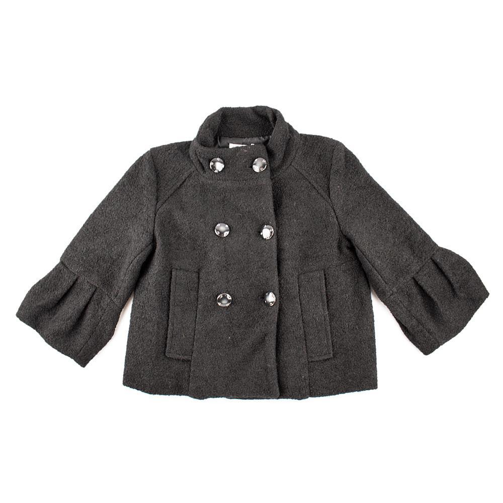 Пальто демисезонное для девочек Colabear 138  черный 122515