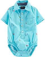 Детская боди-рубашка с принтом ОшКош для мальчика
