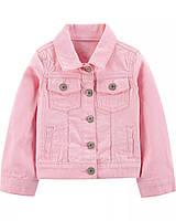 Стильный розовый пиджак с длинным рукавом Картерс для девочки