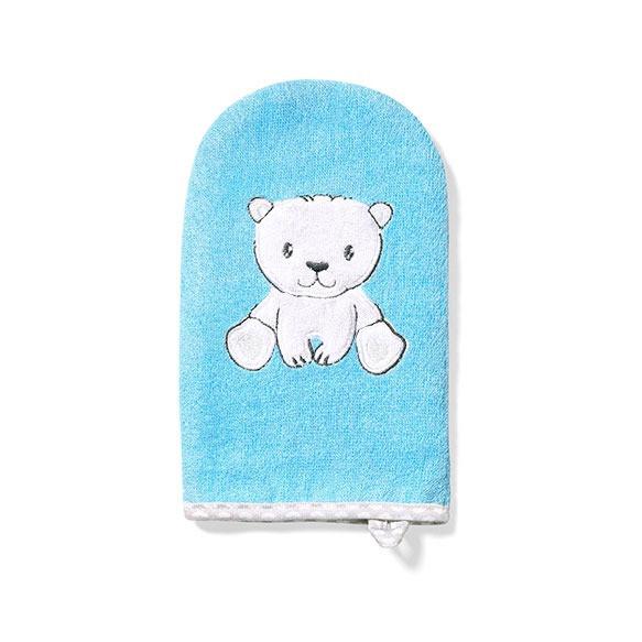 Бамбуковая рукавичка для ванн для детей и младенцев Натурал БАМБУУОУ (медвежонок) BabyOno