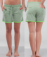 Женские летние шорты зеленый