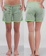 Женские летние трикотажные шорты салатовые размер XS